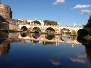 Beautiful day on the Tiber River in Rome